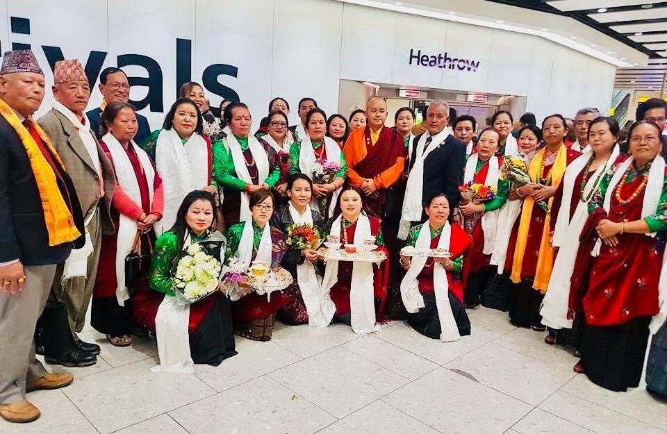 बिसीसी युकेद्वारा धर्मगुरु खेम्पो शिर लामाको स्वागत