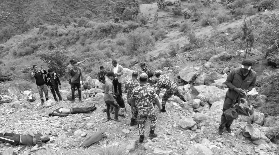 रुकुमको सिस्ने गापामा जिप दुर्घटना, ७ जनाको मृत्यु