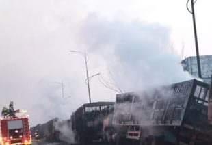 चीनमा भएको विस्फोटमा २२ को मृत्यु