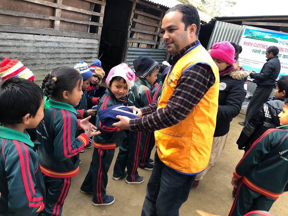 जनकल्याणका विद्यार्थीलाई लायन्स क्लब अफ मिड टाउन काठमाण्डूको सहयोग